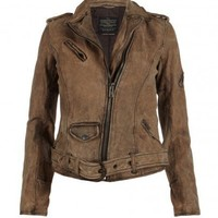 Leather Biker Jacket | Bronx Leather Biker Jacket | AllSaints