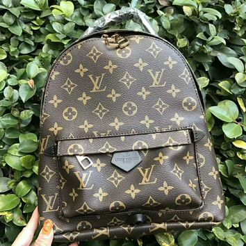 LV Leather Casual Shoulder SchoolBag Satchel Handbag Backpack bag H-AGG-CZDL