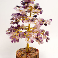 Amethyst Crystal Tree 8 inches tall! Makes a Great Gift! Heal Addictions, Nightmares, Insomnia