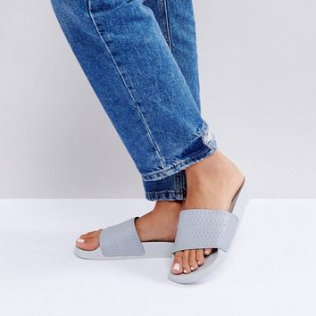 adidas Originals Adilette Slider Sandals In Gray at asos.com