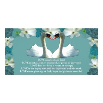 Pretty Little Flowers Mute Swans Card