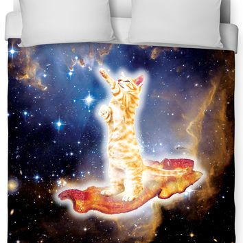 Bacon Cat Duvet Cover