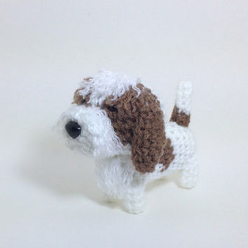 Petit Basset Griffon Vendeen Crochet PBGV Amigurumi Dog Stuffed Animal Plush Doll / Made to Order