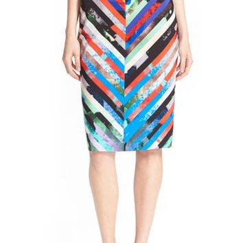 Milly 'Mirage Stripe' Pencil Skirt | Nordstrom
