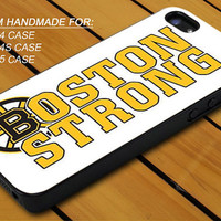 Boston Strong Marathon - iPhone 4 / 4s or iPhone 5 Case - Hard Case Print - Black or White Case - Please leave message