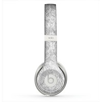 The White Textured Lace Skin for the Beats by Dre Solo 2 Headphones