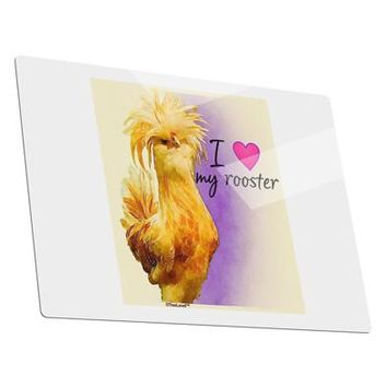I Heart My Rooster Metal Panel Wall Art Landscape - Choose Size