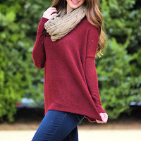 Piko Sweater-Wine
