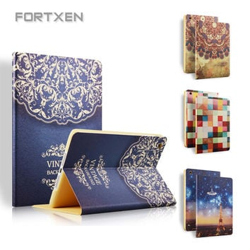 Case Stand For iPad Air 2 1 Vintage Luxury Cute Cool Floral Unique PU Leather Smart Case For iPad Air 2