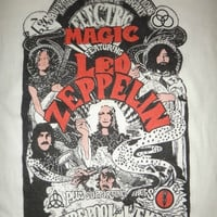 New Year Sale Vintage 1970s Led Zeppelin Electric Magic T Shirt Original Vintage Rock Tee MEGA RARE