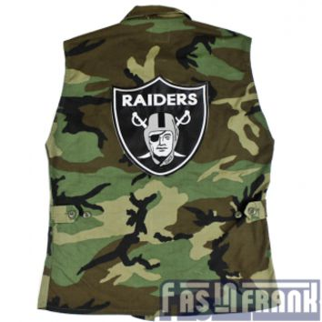 LA Raiders Camo Vest Sz S/M/L/XL | F as in Frank Vintage Clothing