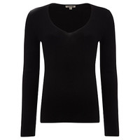 Buy Jigsaw Silk Cotton V Neck Sweater online at John Lewis