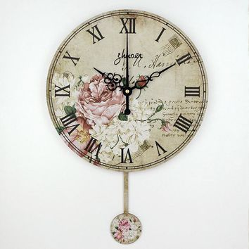 vintage large decorative wall clock absolutely silent quartz home watch wall fashion living room wall watches duvar saati