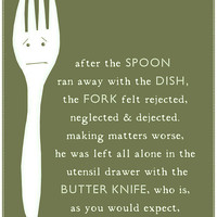 $18.00 Fork Kitchen Art Print by thedreamygiraffe on Etsy