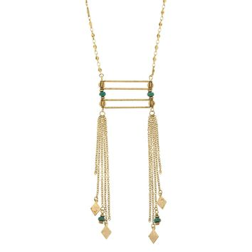 RENDEZVOUS Long Fringe Necklace
