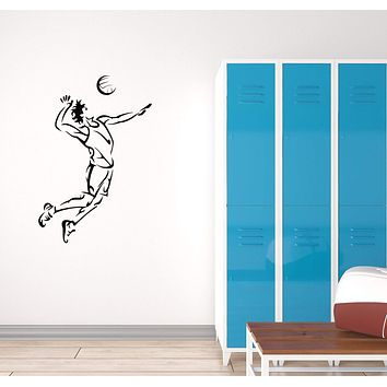 Vinyl Decal Volleyball Player Team Wall Sticker Home Decor for Sport Unique Gift (g063)