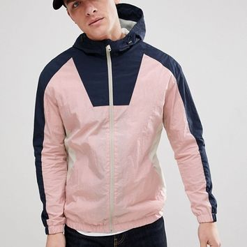 Jack & Jones Originals Colour Block Windbreaker Jacket at asos.com