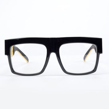 ROYAL GIRL Unique Men Statement Frame Glasses Top flat Optical Glasses metal leg Chunky designs ss62