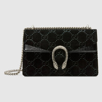 Gucci Dionysus GG velvet small shoulder bag
