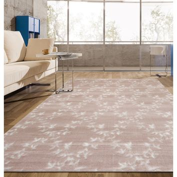 Pink Modern Floral Trellis Indoor Area Rug (3'3 x 5'3) | Overstock.com Shopping - The Best Deals on 5x8 - 6x9 Rugs
