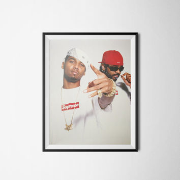"Supreme Dipset, Supreme Poster Wall Art, Digital Download, 300dpi, A3 or 18"" x 24""."