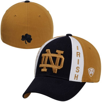 Top of the World Notre Dame Fighting Irish Super Star 1Fit Flex Hat - Navy Blue/Gold