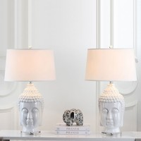 Ceramic Buddha Table Lamp (Set of 2)