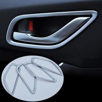 ac NOOW2 4Pcs/Set ABS Chrome Inner Door Handle Cover Inner Door Protection Trim Sticker For Mazda CX-5 CX5 CX 5 2012-2016 Car Accessories