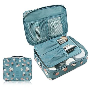 Women Portable Cosmetic Toiletry Bags Travel Storage Organizer