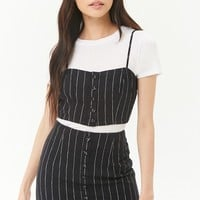Pinstriped Mini Skirt