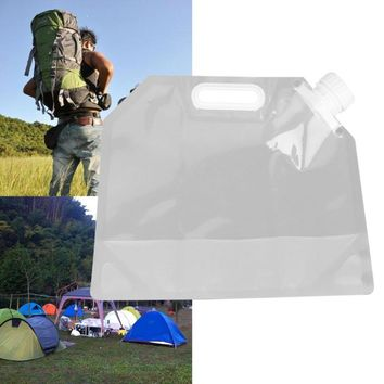 1Pcs Portable 3L Foldable Drinking Water Bag for Outdoor Camping Hiking Riding Folding Collapsible Car Water Carrier Container