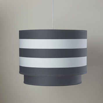 Stripe Double Cylinder - Pewter