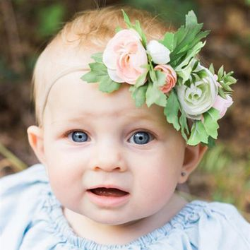 Colorful Flowery Headband for Baby