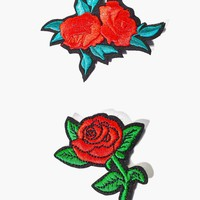 Rose Badge Patch Set