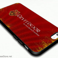 Griffindor Hogwarts House Team Symbol of Harry Potter Brave Hearts Case Cover For iPhone 6 / iPhone 6 Plus