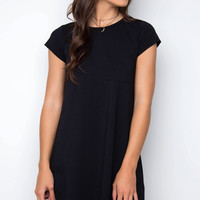 Good Timing Shirt Dress - Black
