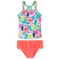 Girls Swimwear 2017 Summer Toddler Bathing Suit Kids 2Pcs Set Swimsuit Girls Toddler Monkey Swimwear Kids Swimwear Bikini