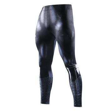 Avengers 3 New High Quality Mens Leggings 3D Mode Iron Spiderman/Iron Men Fitness Pants Compression Crossfit Stovepipe eggings