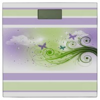 Bathroom Scale/Butterflies, Swirls and Clouds Bathroom Scale