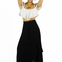 Sea Dreamer Classic Wrap Skirt Black