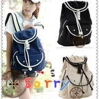 Fashion cute school bags canvas backpack colors students Girls' Canvas Satchel