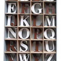 Espresso or White Capital Wood Wall Hanging Letters