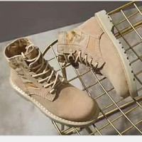 Martin boots khaki high-tops Shoes H-CSXY