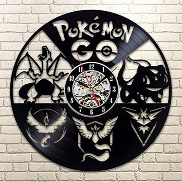 Pokemon Retro CD Vinyl Record Clock