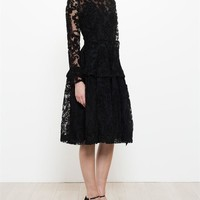 SIMONE ROCHA | Flocked Brocade Dress | brownsfashion.com | The Finest Edit of Luxury Fashion | Clothes, Shoes, Bags and Accessories for Men & Women