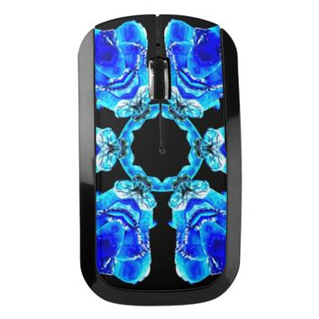 Blue Petals Wireless Mouse