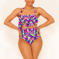 Bright Aztec Serengeti Swimsuit Bottom