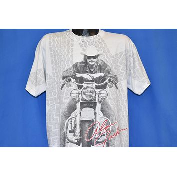 90s Alan Jackson All Over Print Motorcycle t-shirt Extra Large