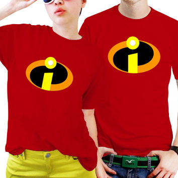 NSC-Incredibles Logo Couples Matching Shirts, Couples T Shirts, Funny Couple Shirts