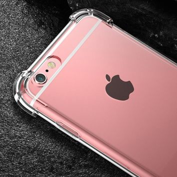 Ultra Thin Airbag Bumper Case For IPhone 5 5S SE 6 6s 6plus 6s Plus Iphone7 7plus Iphone8 8plus Iphone X Case Silicone Transpare